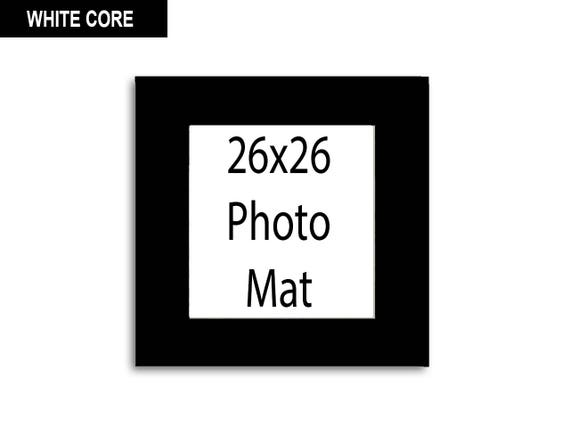 Multiple Colors Any Opening Size 26x26 Photo Mat
