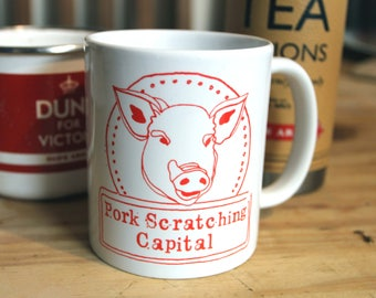 Wolverhampton, Pork Scratching Capital mug with little piggie