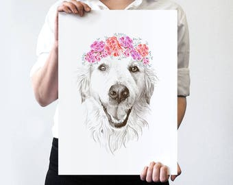 Pet Portrait FLOWER CROWN