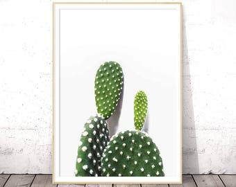 Cactus Print, Succulent Wall Art, Bohemian Decor, Tropical Poster, Affiche Cactus, Downloadable Prints, Modern Minimalist, Botanical Prints