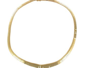 Vintage articulated gold necklace