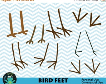 75% OFF SALE Bird Feet Clipart, Vector Graphics, Bird Feet SVG, Digital Clip Art - Uz712