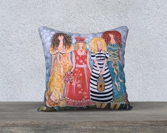 Sisterhood of Love: Fine Art Pillow