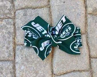 New York Jets Inspired Football Headwrap, Baby Headband, Toddler Bows Headwrap, Big Bow, Baby Girl Headwrap, Headband, Infant, Tied