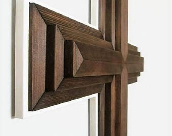 "Large Wall Cross, 34"",  Rustic Wood Cross, Christian Decor, Church, Sanctuary Cross, Large Wall Cross, Wood Wall Cross, Christian Cross"