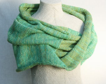 Green christmas gift / Bridesmaid shawl / Mohair shoulder warmer / Knit oversized scarf / Nursing shawl - Kelp Forest