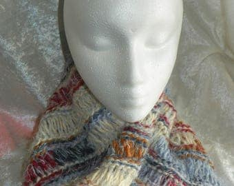 Angel soft hand knit mobius collar