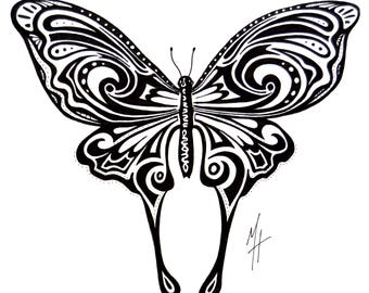 Ink Butterfly 2 Illustration