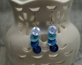 "Earrings ""Knopfvoll blue tones"""