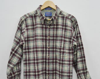 Vintage Pendleton shirt wool plaid Youth XL made USA