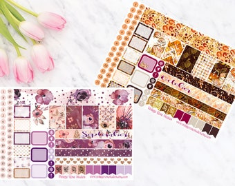 September & October Personal Planner Stickers for SewMuchCrafting Monthly Calendar View Personal Size Vertical Inserts