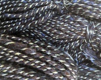 Slate - Hand Spun, Hand Dyed Wool Yarn