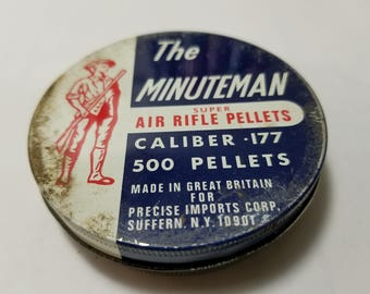 Vintage The Minutemen Super Air Rifle Pellets .177 cal. Made in GB