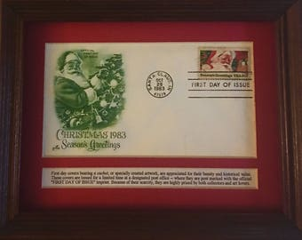 Christmas 1983 Official First Day of Issue Collectible