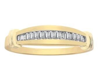 0.35 Carat Diamond Wedding Band 10K Yellow Gold Ring