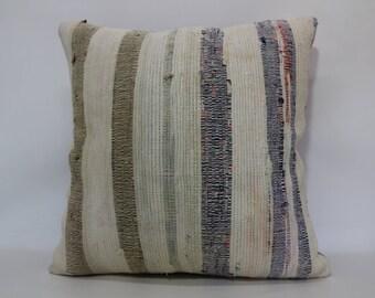 24x24 Kilim Pillow Cotton Kilim Pillow 24x24 Outdoor Kilim Pillow Floor Pillow Washable Kilim Pillow Cushion Cover SP6060-1353