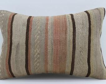 16x24 Kilim Pillow Covers Striped Pillow Turkish Decorative Kilim Pillow 16x24 Faded Pillow Boho Pillow Multicolor Pillow SP4060-1335