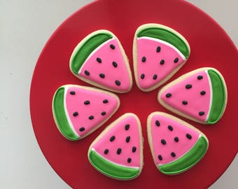 Watermelon Cookies, Summer Cookies, Picnic Cookies, Cookie Treats, Treat Bags, Party Favors, Dessert Party, Kids Party, Birthday Party