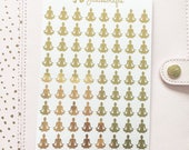 Foil Yoga Stickers | Planner Stickers
