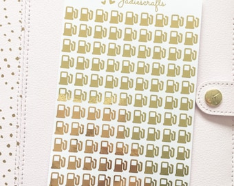 Foil Petrol Stickers | Planner Stickers