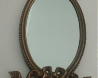Vintage Mirror-Bronze metal
