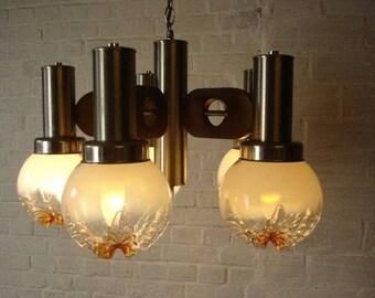 Mazzega  - Chandelier Murano glass - Italian design pendant - 5 pendant light - Home decoration