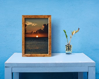 Sunset art print, Caribbean sunset, Dominican Republic, Coastal Wall art, Home decor, Office decor, nature photography