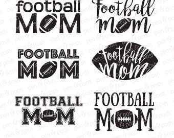 Football Mom SVG Files Instant Download Vector Graphic DXF Cut File PNG eps ai