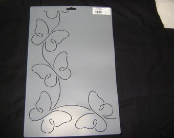 Sashiko Japanese Quilting/Embroidery Stencil 4.25 in. Butterfly Promise Motif Border and Corner /Quilting/45