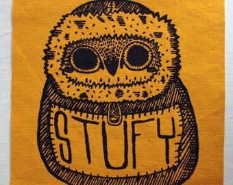 STUFY Owl Back Patch