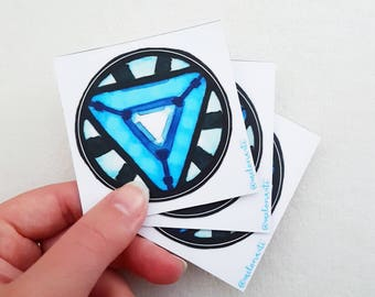 Iron Man Arc reactor vinyl sticker