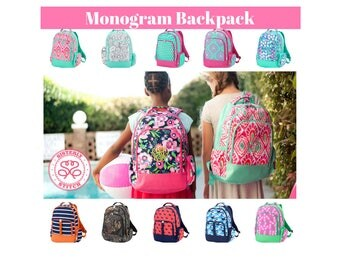 Monogram Backpacks/ Personalized Kids backpacks/ Free Personalization/Monogram girls backpack/ boys backpack/kids book bag, summer camp