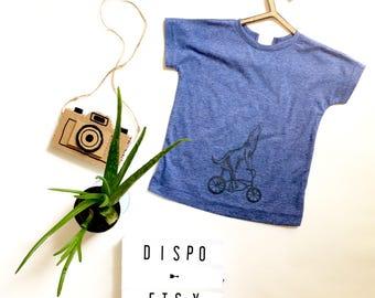 Unisex short sleeve kids shirt. Organic cotton. Screenprinted and handmade in Montreal
