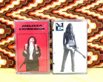 Melissa Etheridge - 2 Cassette Tapes - Self Titled 1988 and Never Enough 1992
