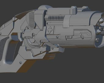 Captain Cold Gun from The Flash for 3D-printing