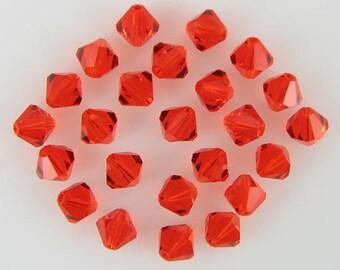 24 6mm Swarovski crystal bicone 5301 Hyacinth beads 3899