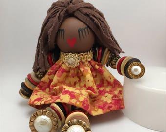 Bailey's Little People Gloria Button Doll