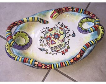 Day of the Dead Ceramic Plate