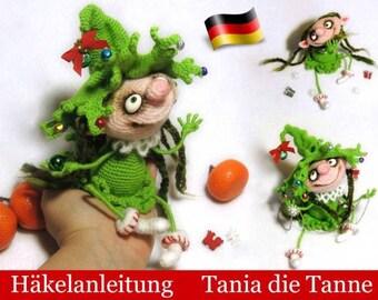 064DE Häkelanleitung - Puppe Tania die Tanne Amigurumi PDF Pertseva Etsy