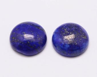 1 cabochon lapis lazuli 16mm round
