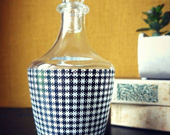 Liquor bottle - screen alcohol bottle - bottle alcohol with stopper - vintage decorative Element
