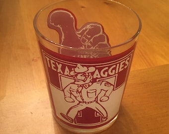 1960s Texas Aggies Drinking Glass