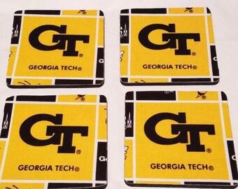 Georgia Tech 4 Pack Coaster Set
