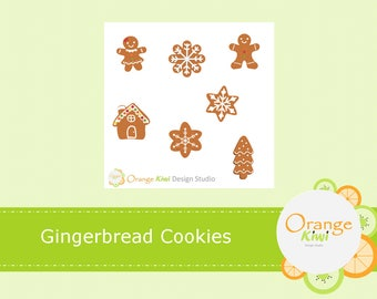 Gingerbread Cookie Sample Stickers, Gingerbread Cookie Stickers