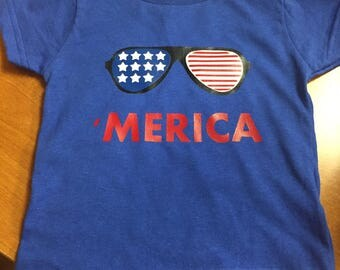 Merica Shirt // Cool Kid / 4th of July Shirt / Toddler / America / Childrens 4th of July