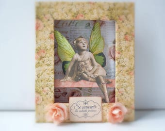 frame embossed fairy ballerina vintage gift for girl