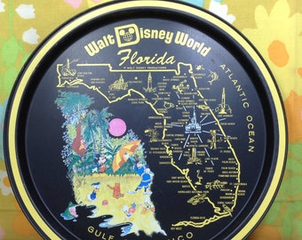 Vintage Walt Disney World State of Florida Serving Tray