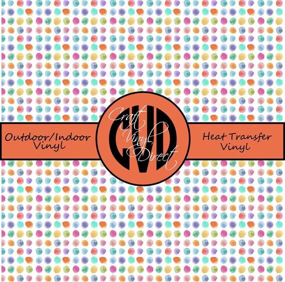 Polka Dot Patterned Vinyl // Patterned / Printed Vinyl // Outdoor and Heat Transfer Vinyl // Pattern 727