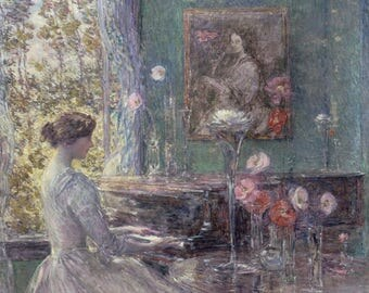 Improvisation by Childe Hassam - Poster A3 or A4 Matt, Glossy or Art Canvas Paper