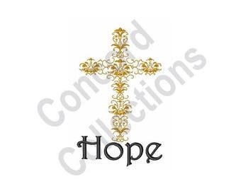 Hope Cross - Machine Embroidery Design, Hope, Cross